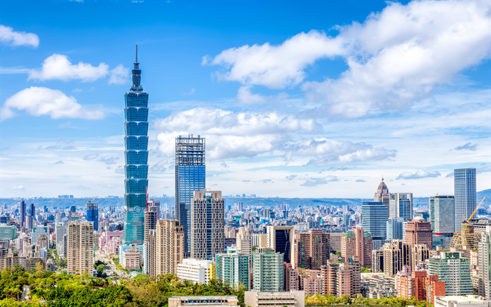 Download wallpapers Taipei 101, 4k, cityscapes, Taiwan