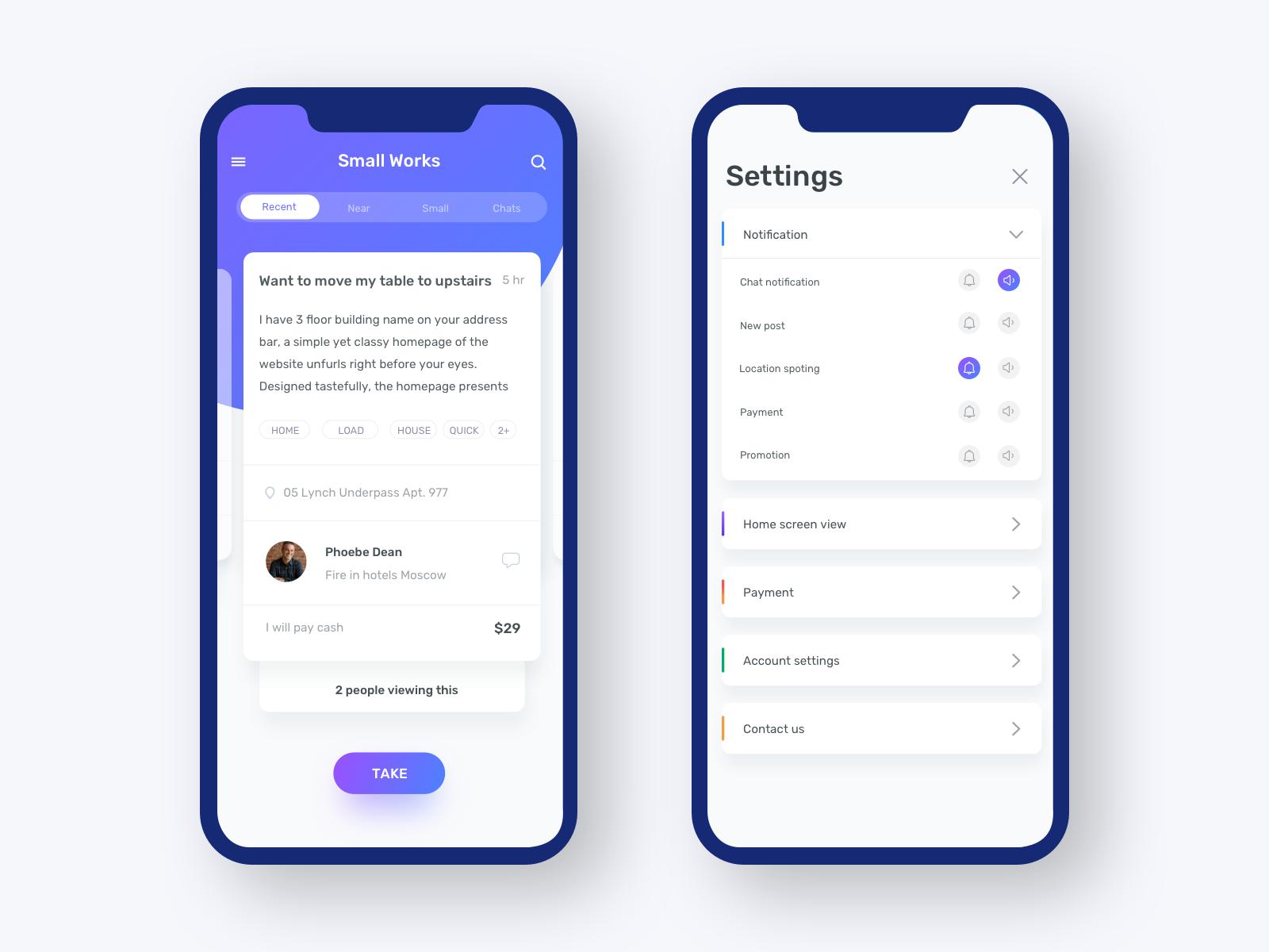 Pin on UI mobile