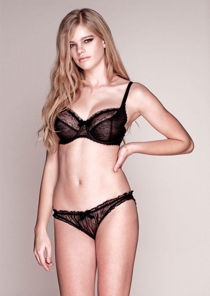 b25831976c Miss Mandalay Mia Black Balconette Bra - RRP £45.00