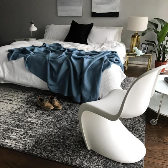 XL Sapphire Blue Linen Throw Blanket Modern Bedding King Or Magnificent How To Drape A Throw Blanket On A Bed