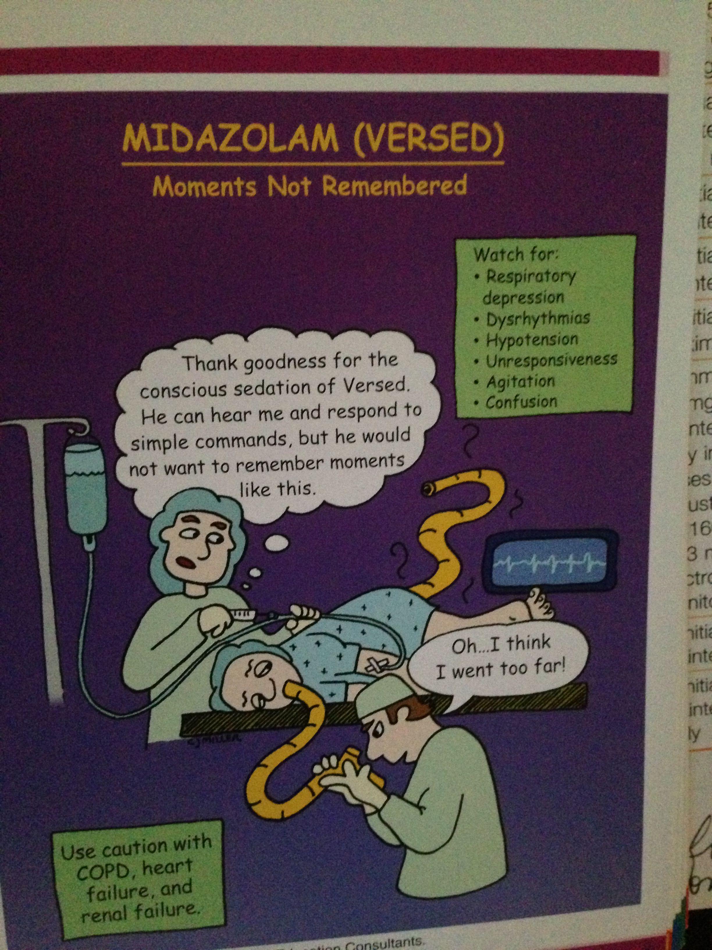 Versed CNS drug for conscious sedation | Words | Nurse life