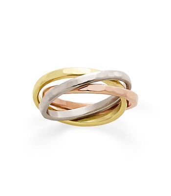 ring entwined rings white top in inlay wedding gold mixed