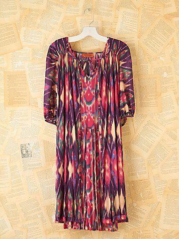 Vintage Missoni Ikat Dress with Cape | :PrEttyThreads n ...
