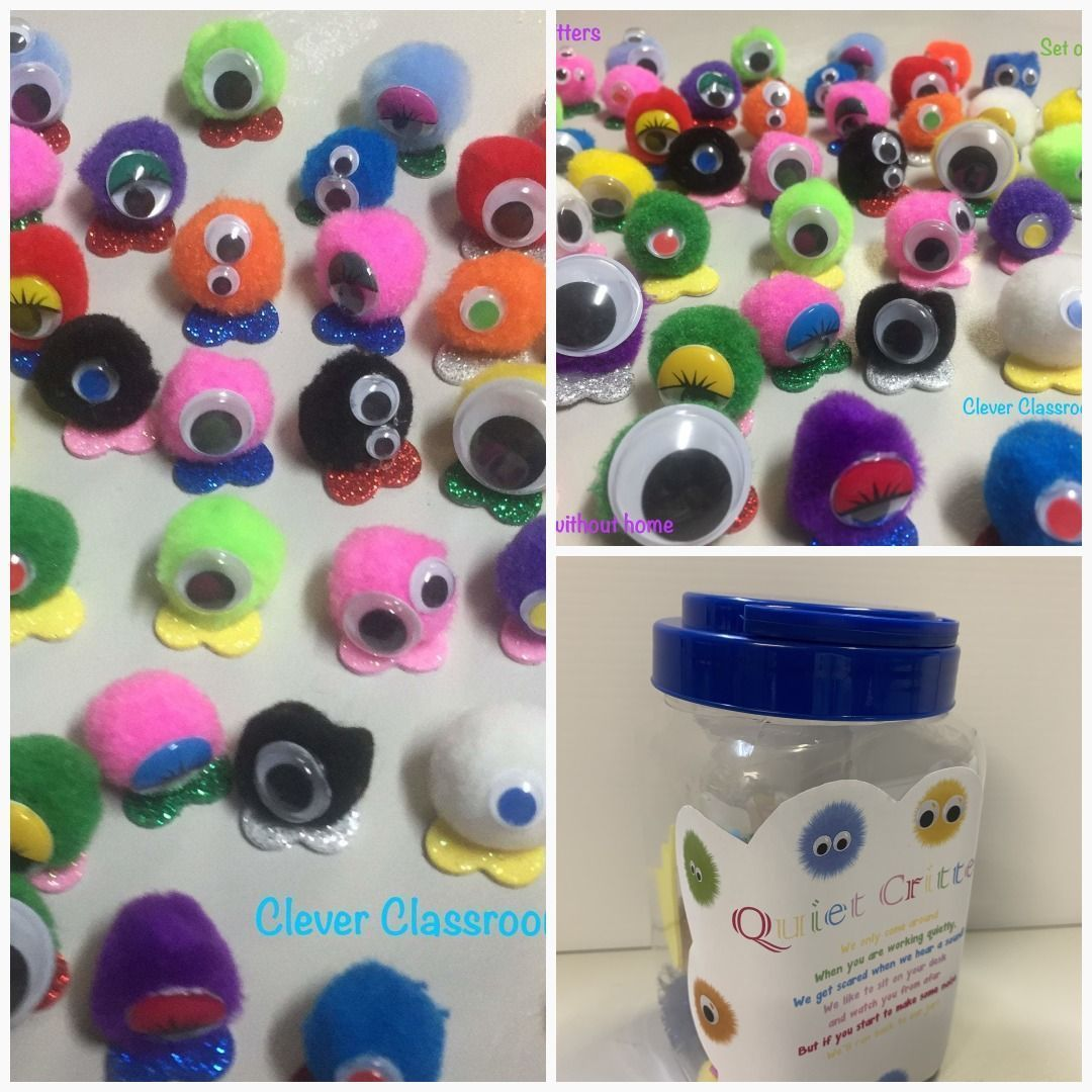 Tiny Quiet Critters - pompom creatures to use for classroom behviour  #classroom #teacher #teach #classroomfun #iwishmyteacherknew #vinyldeskdecals #californiateachers #learntoread #classroomdecor #whisperphones #quietcritters Tiny Quiet Critters - pompom creatures to use for classroom behviour  #classroom #teacher #teach #classroomfun #iwishmyteacherknew #vinyldeskdecals #californiateachers #learntoread #classroomdecor #whisperphones #quietcritters Tiny Quiet Critters - pompom creatures to use #quietcritters