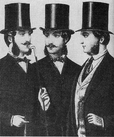 El sombrero de copa de seda negro o chistera continuó siendo el exigido  para los conjuntos  formales  para actividades diurnas y nocturnas. 26c3529b17b