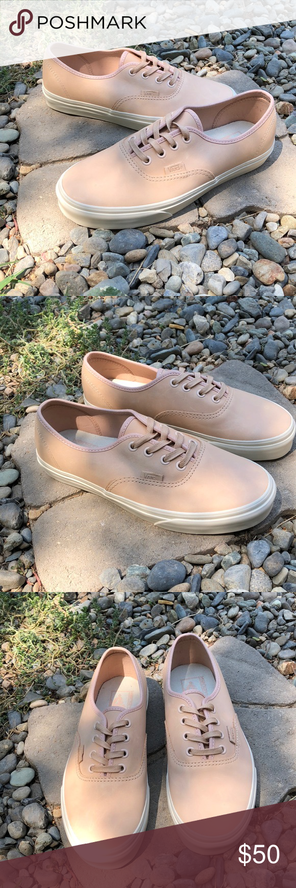 60b3aebb0d Vans Authentic DX Veggie Tan Leather Shoes Vans Authentic DX Veggie Tan  Leather Shoes New with tag Women s size  7.5 These great tan leather shoes  are the ...