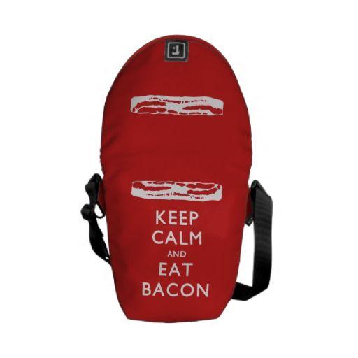 KEEP CALM And Eat Bacon - Rickshaw Mini Zero Messenger Bag #bacon #keepcalm #ilovebacon