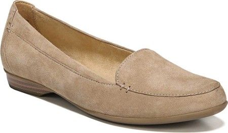 9262b243aef Women s Naturalizer Saban - Oatmeal Suede with FREE Shipping   Exchanges.  The Saban features classic and versatile loafer styling and Naturalizer s  ...