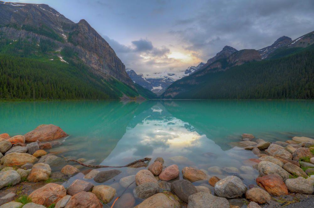 A Turquoise Sunrise at Lake Louise - Banff National Park, Canada