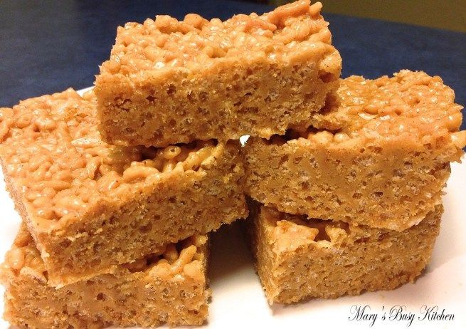 Gluten Free Peanut Butter/SunButter Crispy Treats - #crispytreats