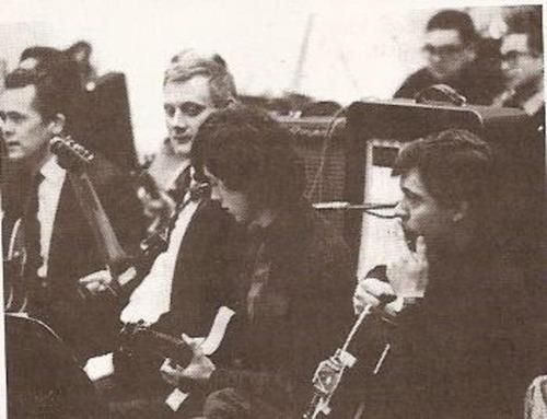 Jimmy Page, session man (head down in the middle) in a rare shot.: