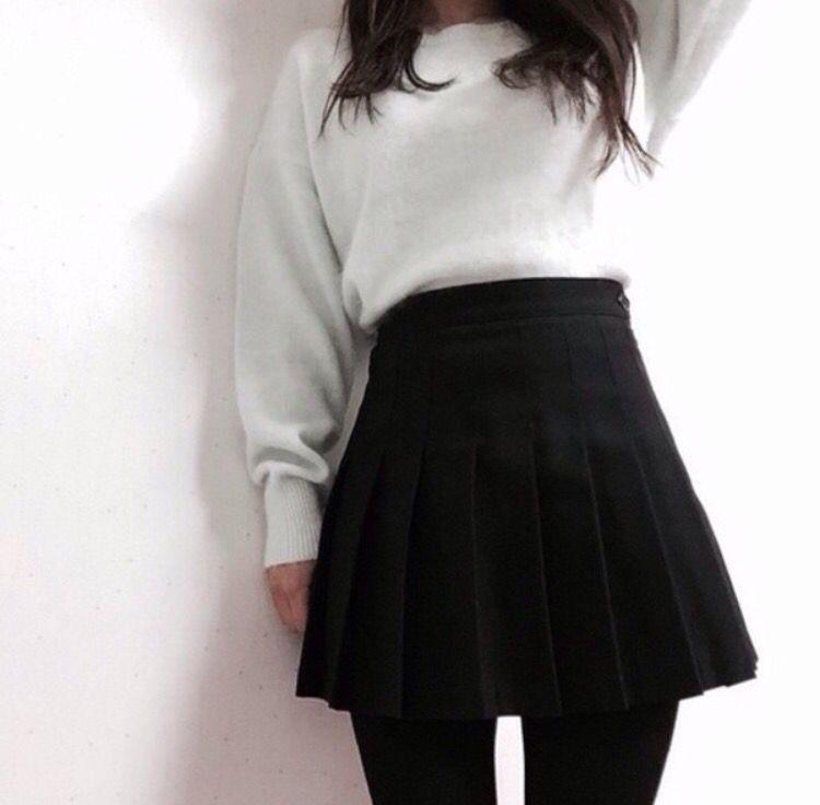 Korean Winter Skirt Outfits