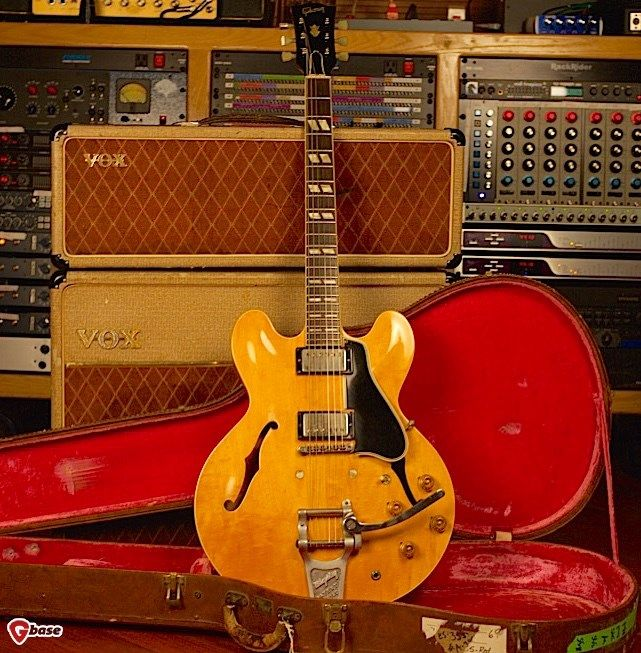 1960 Gibson Es 335 Tdn With Custom Factory 345 Fretboard Natural Guitars Electric Semi Hollow Body Drew Berlin S Vintage Guitars Guitar Electric Guitar Design Vintage Guitars
