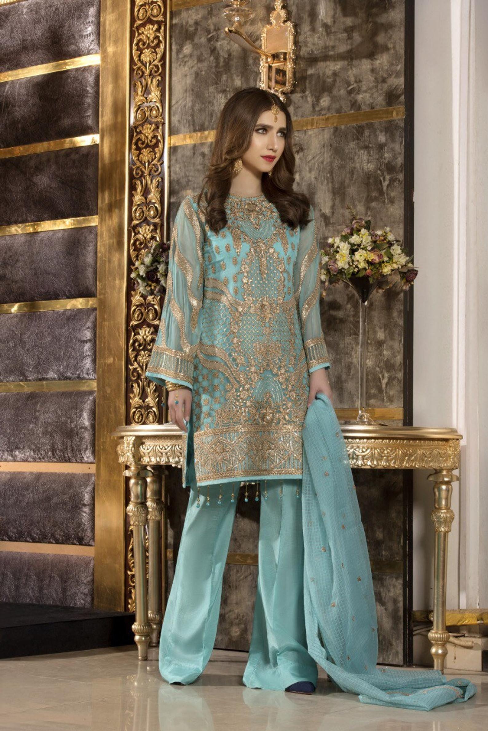 97a880e682 FAREESIA - Maryum N Maria Premium Luxury Chiffon Collection Suit in ...