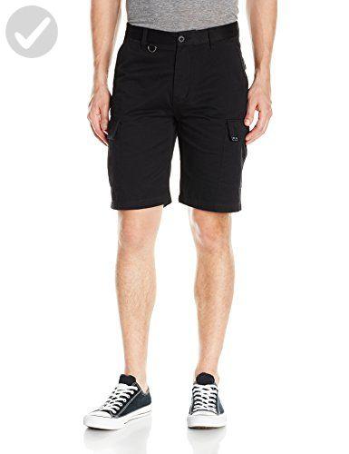 HUF Men's Fatigue Cargo Shorts, Black, 30 - Mens world (*Amazon Partner-Link)