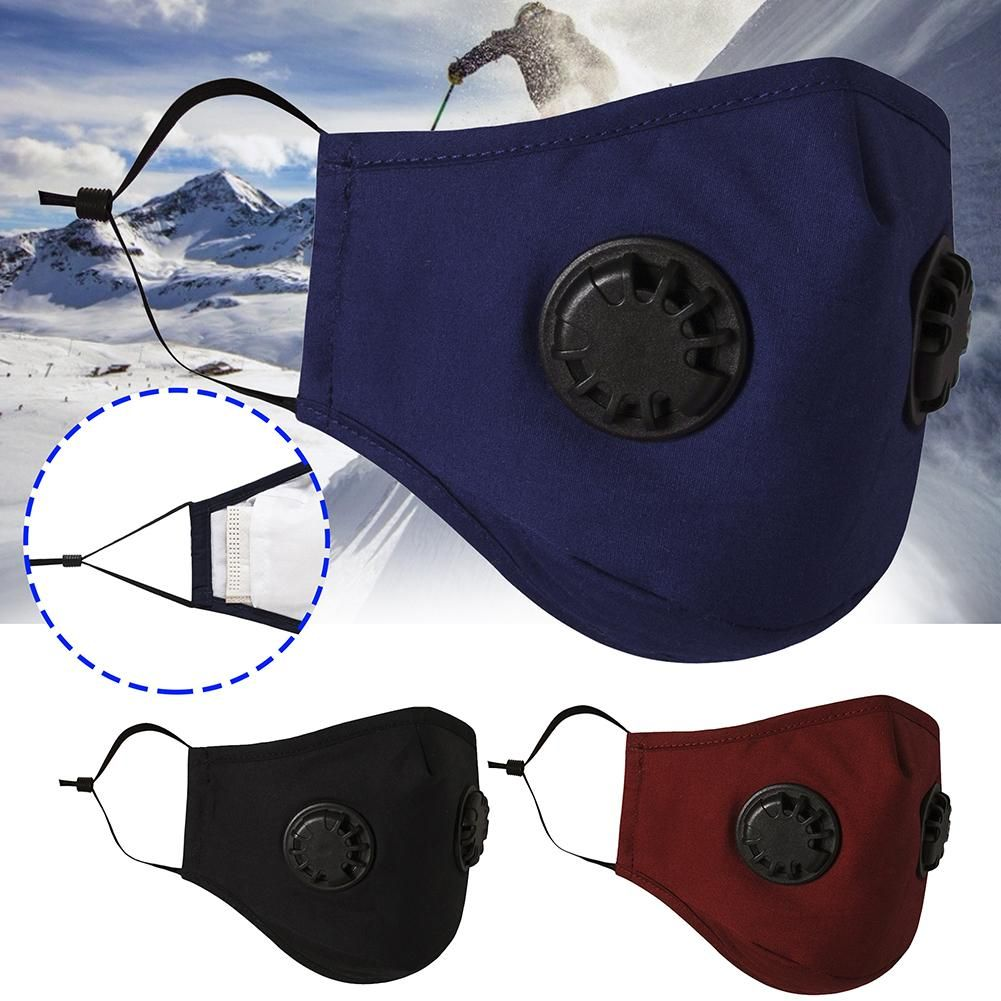 Breathable Activated Carbon Filter Dustproof Sport Face