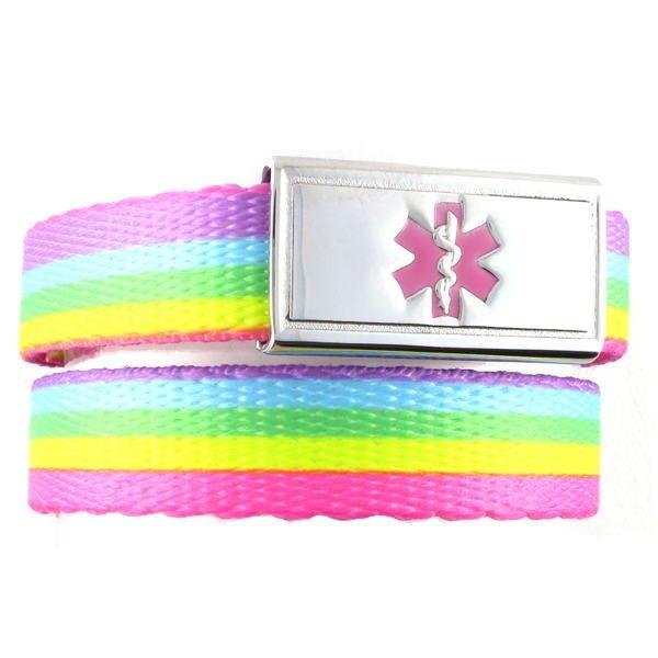 Rainbow Lights Medical Alert Band   N-Style ID
