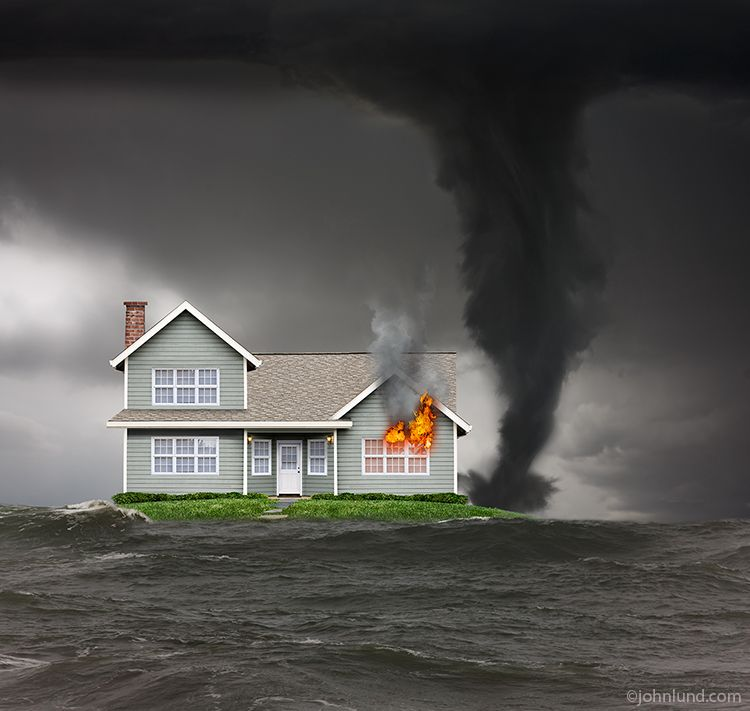 Uh oh! Disaster and Insurance stock photo with Blend Imagees.
