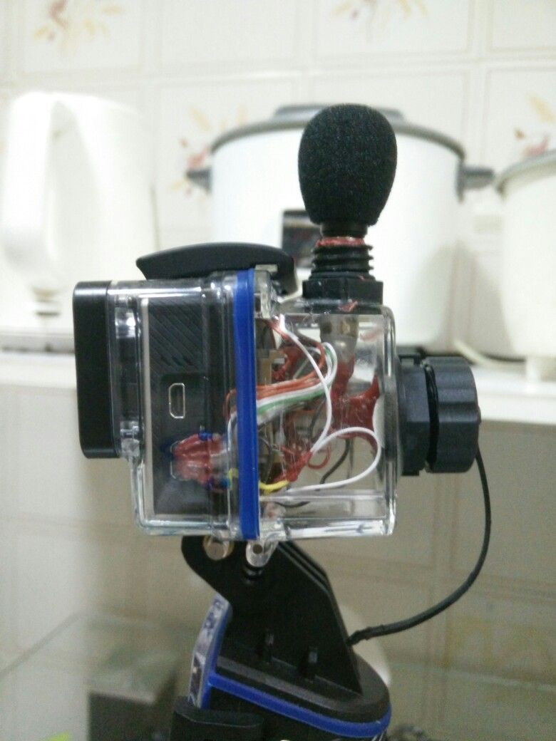 gopro backdoor with microphone jack data sync charging port