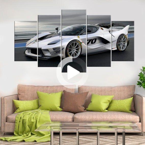 Ferrari FXX K Evo Automobile Print Wall Art Decor Ferrari Cars Ready Framed Canvas Super Car Canvas