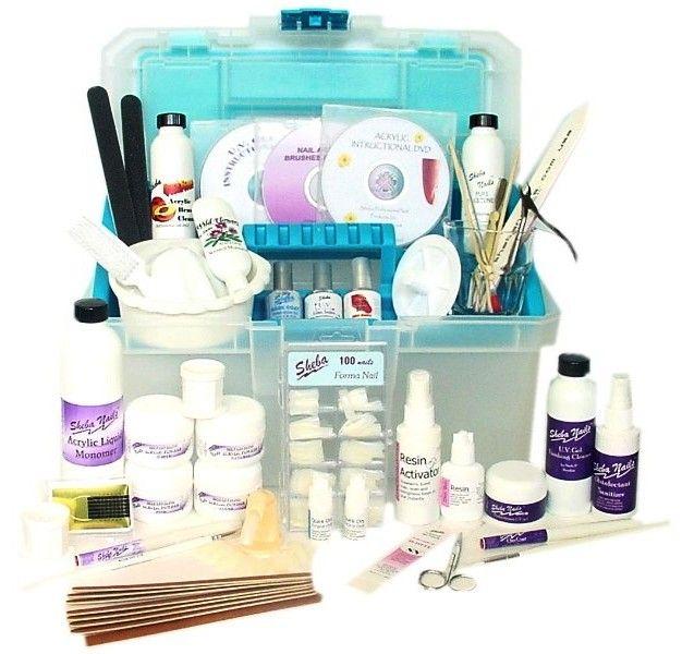 Acrylic Nail Kit Supplies: Nail Technician Kit Intermediate Sheba Nails