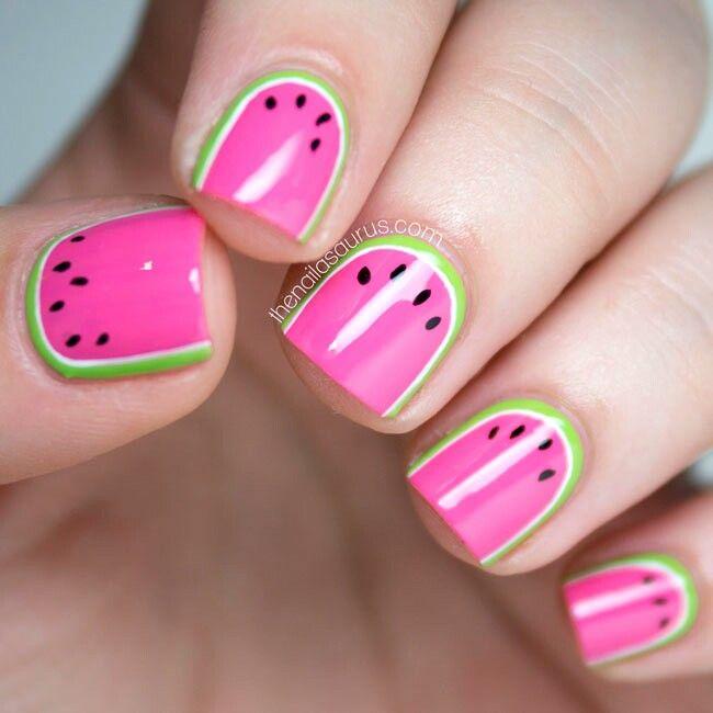 Watermelon Nails Nail Ideas Pinterest Watermelon Nails