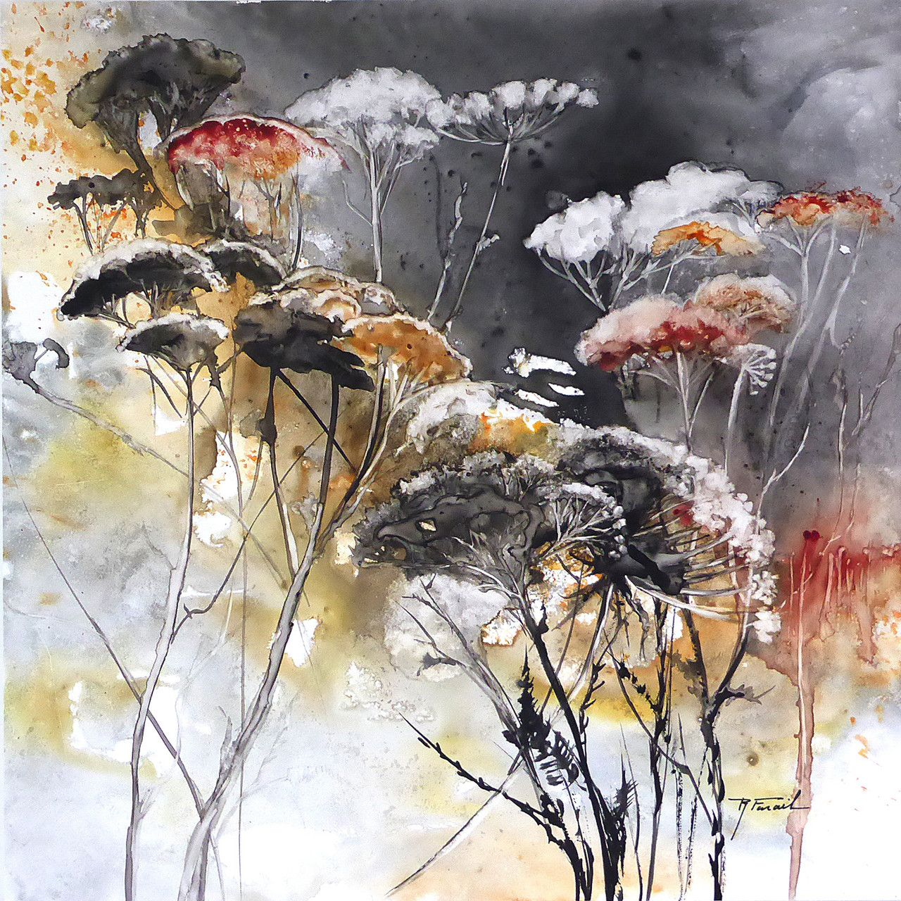 aquarelles vernies sur papier yupo | Watercolor Painting ...