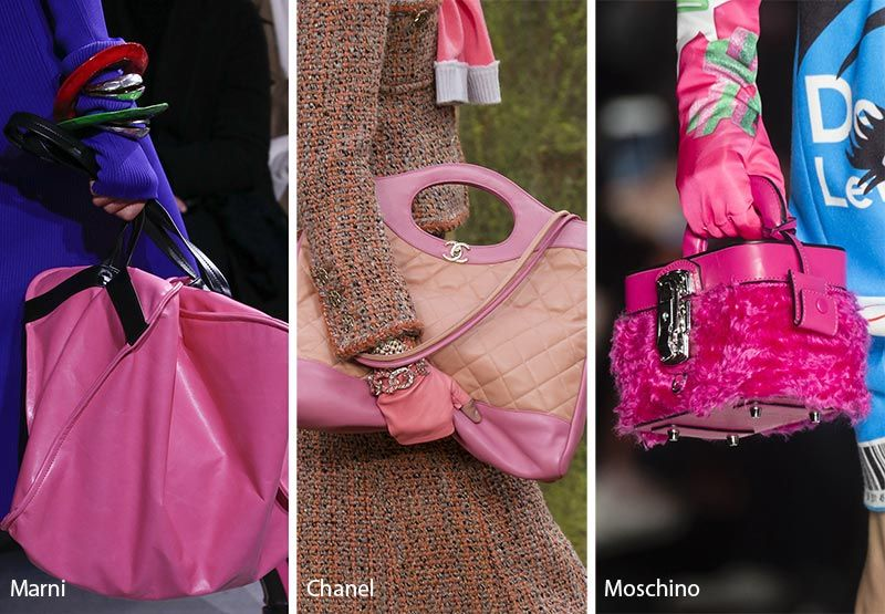Fall Winter 2018 2019 Handbag Trends Pink Bags Purses