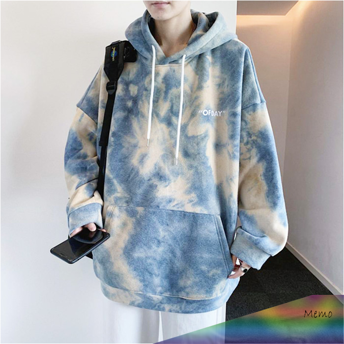 Photo of Apr 29, 2020 – Buy Korean Fashion Of Day Soft Paint Tie-Dye Oversized Hoodie wit…