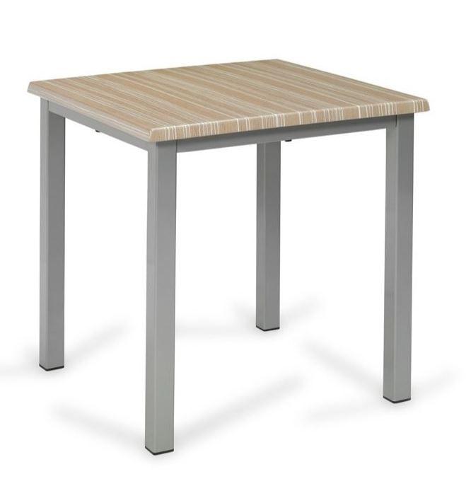 Mesa Monaco Con Cuatro Patas De Aluminio Pintado Y Tablero Werzalit Ideal Para Exterior Y Para Interior Res Muebles Para Restaurantes Muebles Mesas De Bar