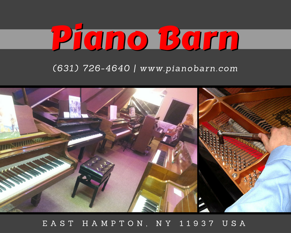 Pianos are complex things; beautiful pieces of furniture, complex mechanical devices, and acoustic instruments under enormous stresses. The tuning must be stabilized, and the regulation checked, in order to insure you enjoy your instrument to the fullest.  #PianoBarn Located and cheerfully Serving in East Hampton, NY Since 1975 Call now at 631-726-4640 Or Visit Our Website: pianobarn.com