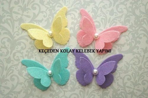 Keçeden Kolay Kelebek Yapımı #butterflies