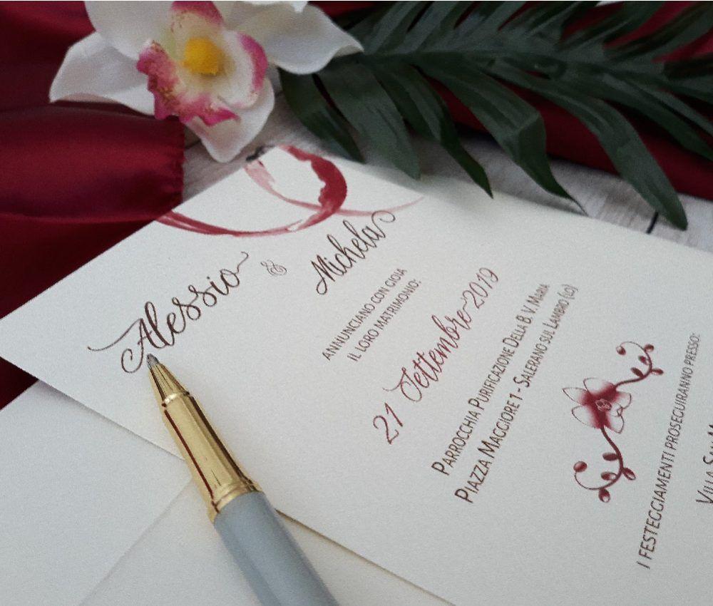 Partecipazioni Di Matrimonio Tema Nozze Vino Con Orchidea Matrimonio A Tema Vino Matrimoni A Tema Partecipazione Di Matrimonio
