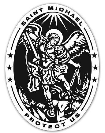 Catholic Gift Archangel Saint St Michael Police Badge Travel Protection Auto Car Visor Clip
