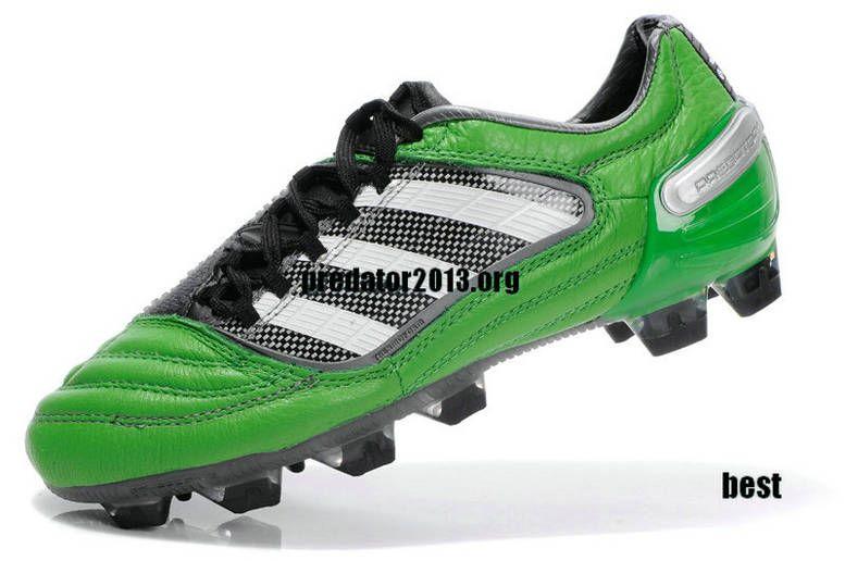 Adidas Predator X TRX FG Cleat - Green White Black Beckham Soccer Shoes c52690e49d