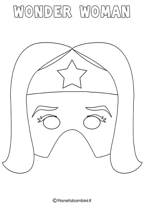 Maschere Di Supereroi Da Colorare Per Bambini Maschere Bambini