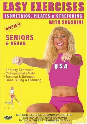 Seniors Exercise DVD: Senior / Elderly Easy Pilates Exercises DVD. Easy PILATES Exercises for Strength, Rehab & Physical Therapy. This Seniors Fitness DVD is Good also for Easy Osteoporosis Exercises, Diabetes Exercises, Arthritis Exercises, Alzheimer's Exercises DVD. Sunshine is a Certified AARP Trainer by ACE, The American Council on Exercise. DVD ~ Sunshine, http://www.amazon.com/dp/B0007MVXRK/ref=cm_sw_r_pi_dp_pyC8rb1XEDC9C