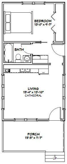 16x30 Tiny House -- #16X30H3A -- 480 sq ft - Excellent Floor