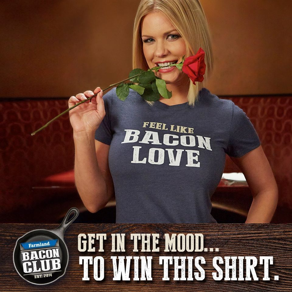 Attention all lovers… of #bacon. Our Valentine's Day gift to you is the chance to #win this shirt: http://www.farmlandbaconclub.com