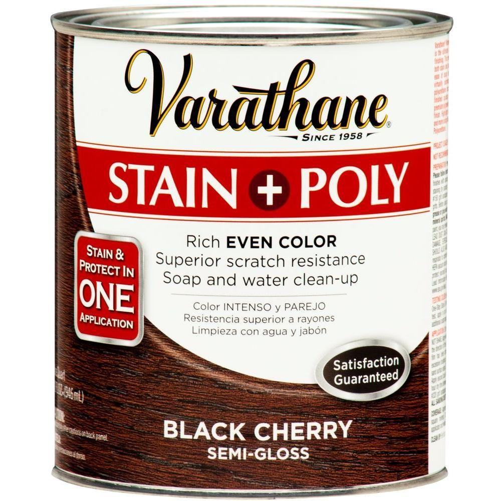 Varathane 1 Qt Black Cherry Stain Polyurethane 2 Pack 266155
