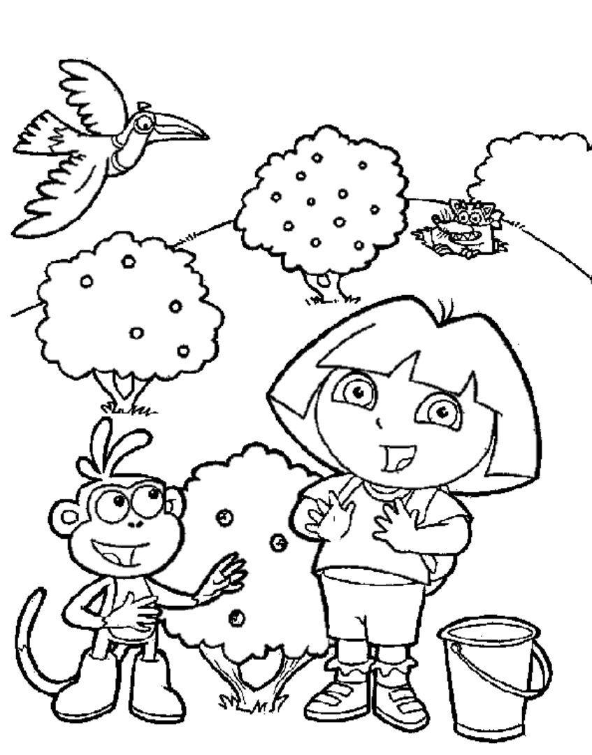 Pin by Coloring Fun on Dora The Explorer | Dora coloring ...