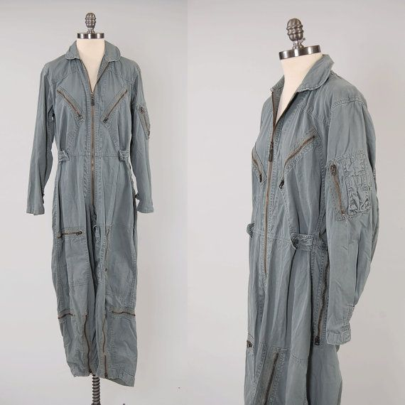 Vintage 60s Usaf Flight Suit Coveralls 1966 Vietnam Era K2b