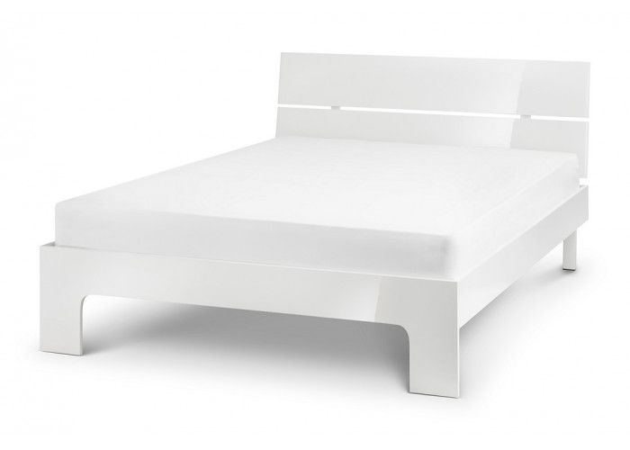 Bonsoni Marbella 4Ft 6 Double Bed Frame   ultra chic bedroom collection in stunning white high gloss lacquer with recessed handles enabling easy opening and creating a clean contemporary image.  https://www.bonsoni.com/marbella-4ft-6-double-bed-frame
