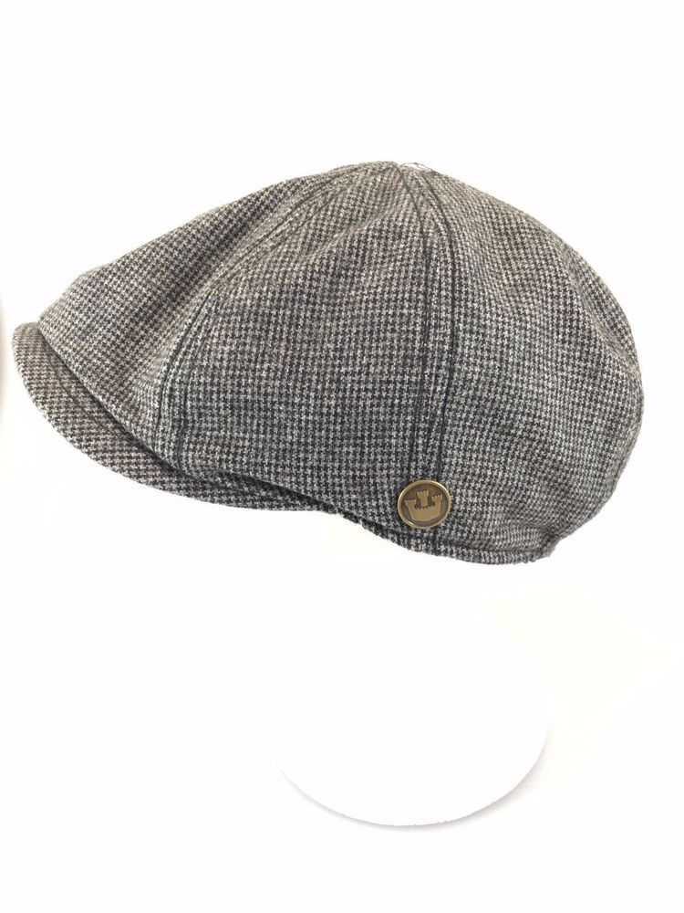 43304902 Goorin Brothers Gray Newsboy Cabbie Cap Wool Blend M 22 1/2