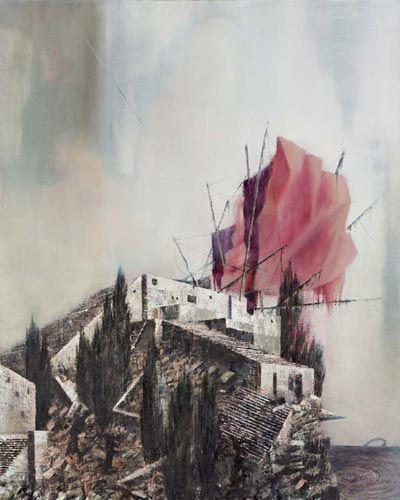 Michael Kunze, Nach Tsalal, Außen I · After Tsalal, Outside I - Painting by Michael Kunze