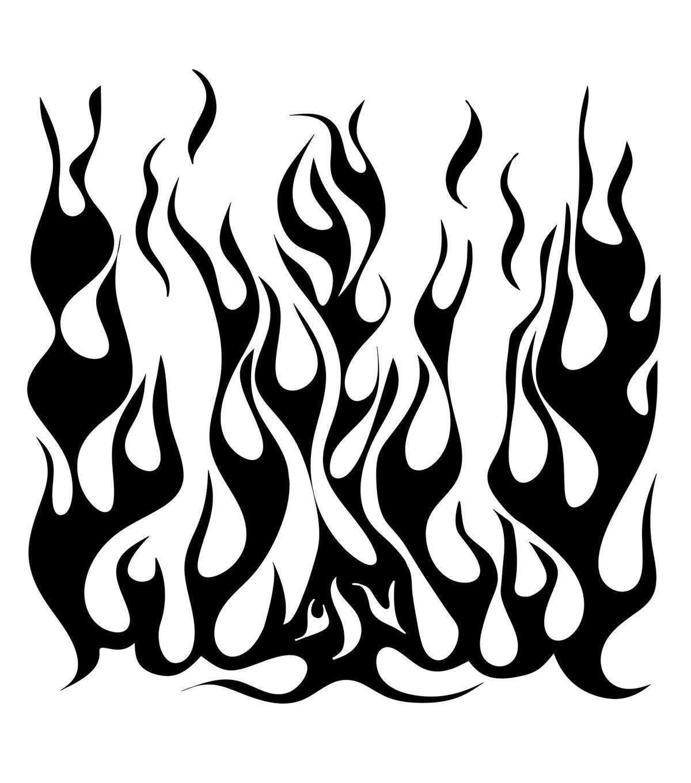 Cheetah Leopard Flame Fire Tribal Airbrush Stencil Animal Reusable Template