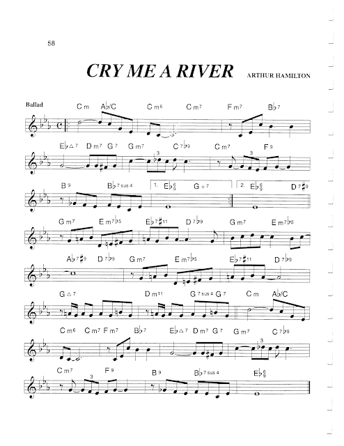 Jazz Real Book Iii Page 58 Cry Me A River Arthur Hamilton Jazz Standard Sheet Music Sheet Music Jazz Sheet Music Jazz Standard