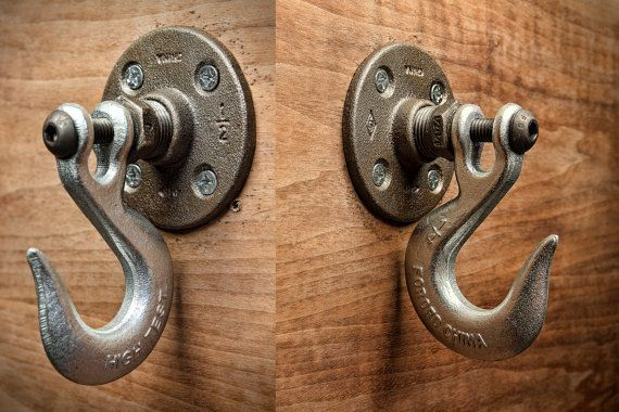 A Handmade Industrial Chic Hook That Is Sure To Add A Truly