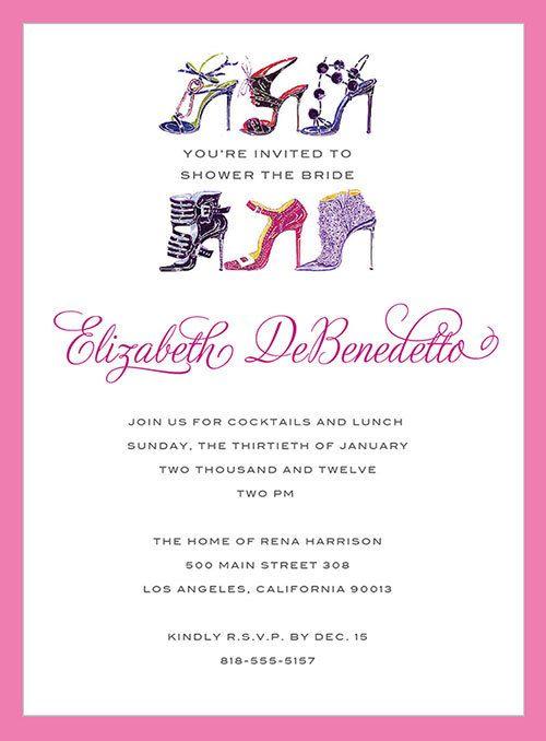 bridal shower invites with purse and shoes custom design invitations invite bridal shower wedding monolo shoe