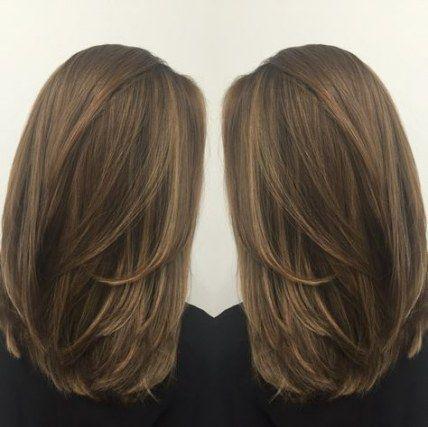 trendy haircut ideas shoulder length brunette ideas